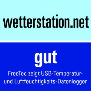 FreeTec zeigt USB-Temperatur- und Luftfeuchtigkeits-Datenlogger