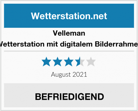 Velleman Wetterstation mit digitalem Bilderrahmen Test