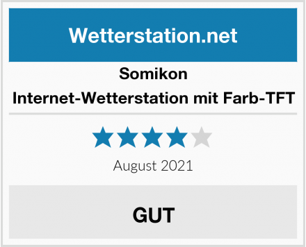 Somikon Internet-Wetterstation mit Farb-TFT Test