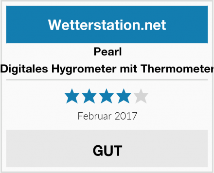 Pearl Digitales Hygrometer mit Thermometer Test