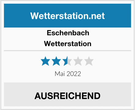 Eschenbach Wetterstation  Test