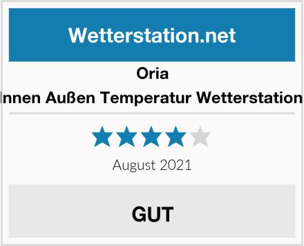 Oria Innen Außen Temperatur Wetterstation  Test