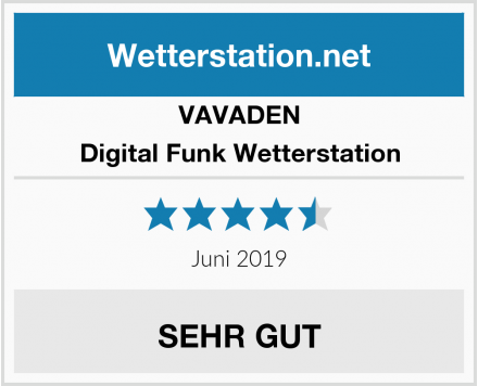 VAVADEN Digital Funk Wetterstation Test