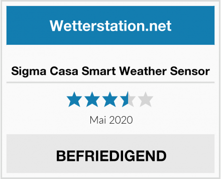No Name Sigma Casa Smart Weather Sensor Test