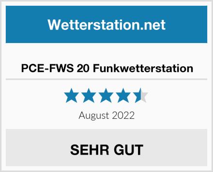PCE-FWS 20 Funkwetterstation Test