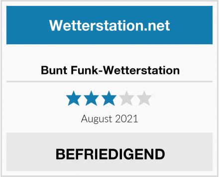 Bunt Funk-Wetterstation Test