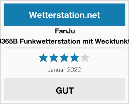 FanJu FJ3365B Funkwetterstation mit Weckfunktion Test