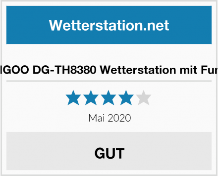 No Name DIGOO DG-TH8380 Wetterstation mit Funk Test