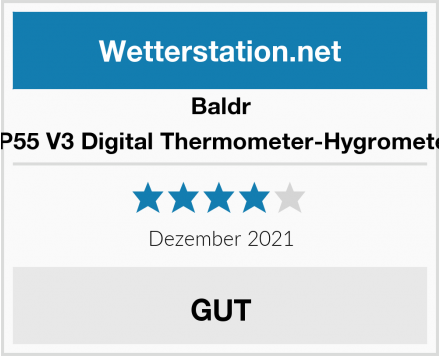 Baldr TP55 V3 Digital Thermometer-Hygrometer Test