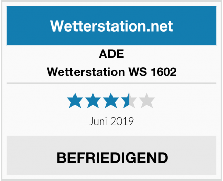 ADE Wetterstation WS 1602 Test