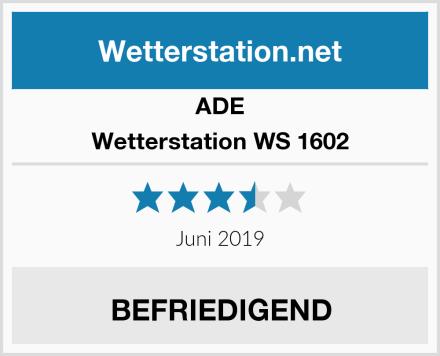 ADE Wetterstation WS 1602 Test
