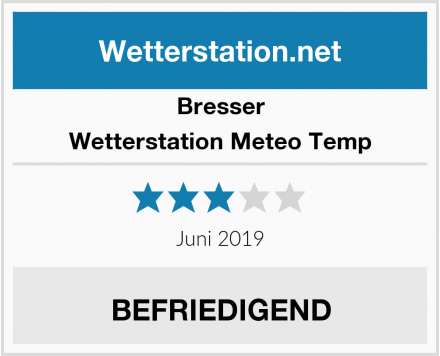 Bresser Wetterstation Meteo Temp Test