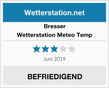 Bresser Wetterstation Meteo Temp Test