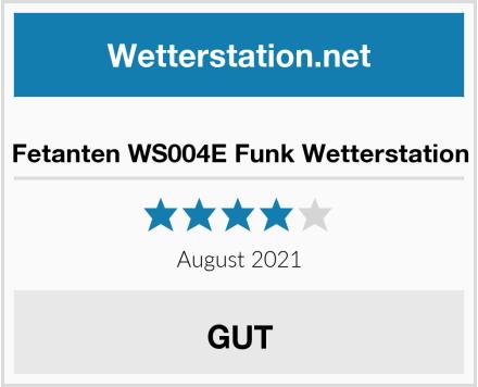 Fetanten WS004E Funk Wetterstation Test