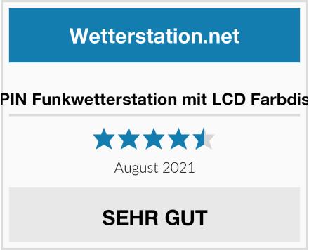 ZEEPIN Funkwetterstation mit LCD Farbdisplay Test