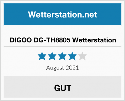 No Name DIGOO DG-TH8805 Wetterstation Test
