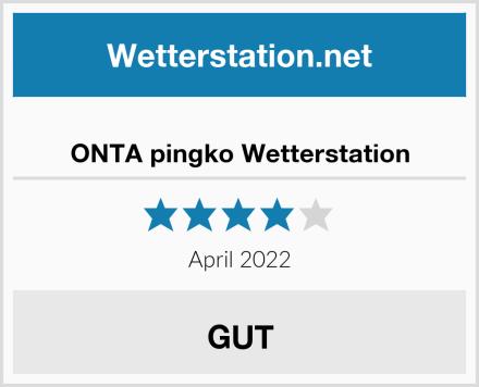 ONTA pingko Wetterstation Test