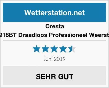 Cresta BAR918BT Draadloos Professioneel Weerstation Test