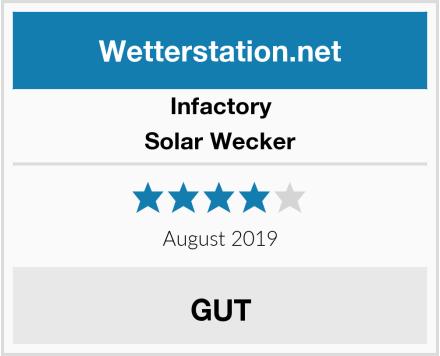 Infactory Solar Wecker Test