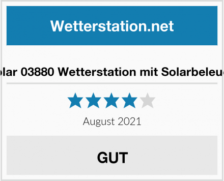 Süd Solar 03880 Wetterstation mit Solarbeleuchtung Test
