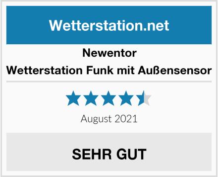 Newentor Wetterstation Funk mit Außensensor Test