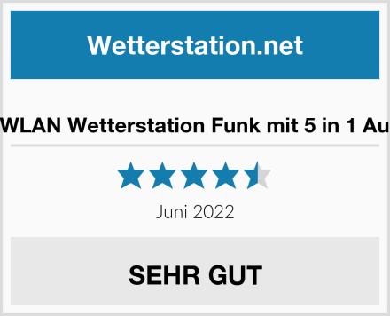 Brandson WLAN Wetterstation Funk mit 5 in 1 Außensensor Test