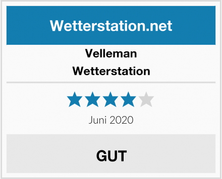 Velleman Wetterstation Test