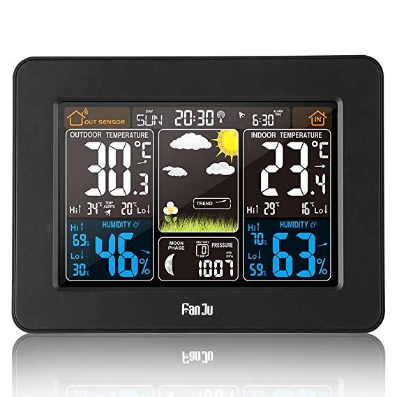 FanJu FJ3365B Funkwetterstation mit Weckfunktion