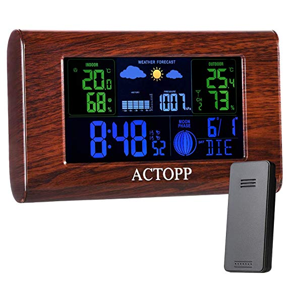 No Name ACTOPP Funkwetterstation mit Außensensor