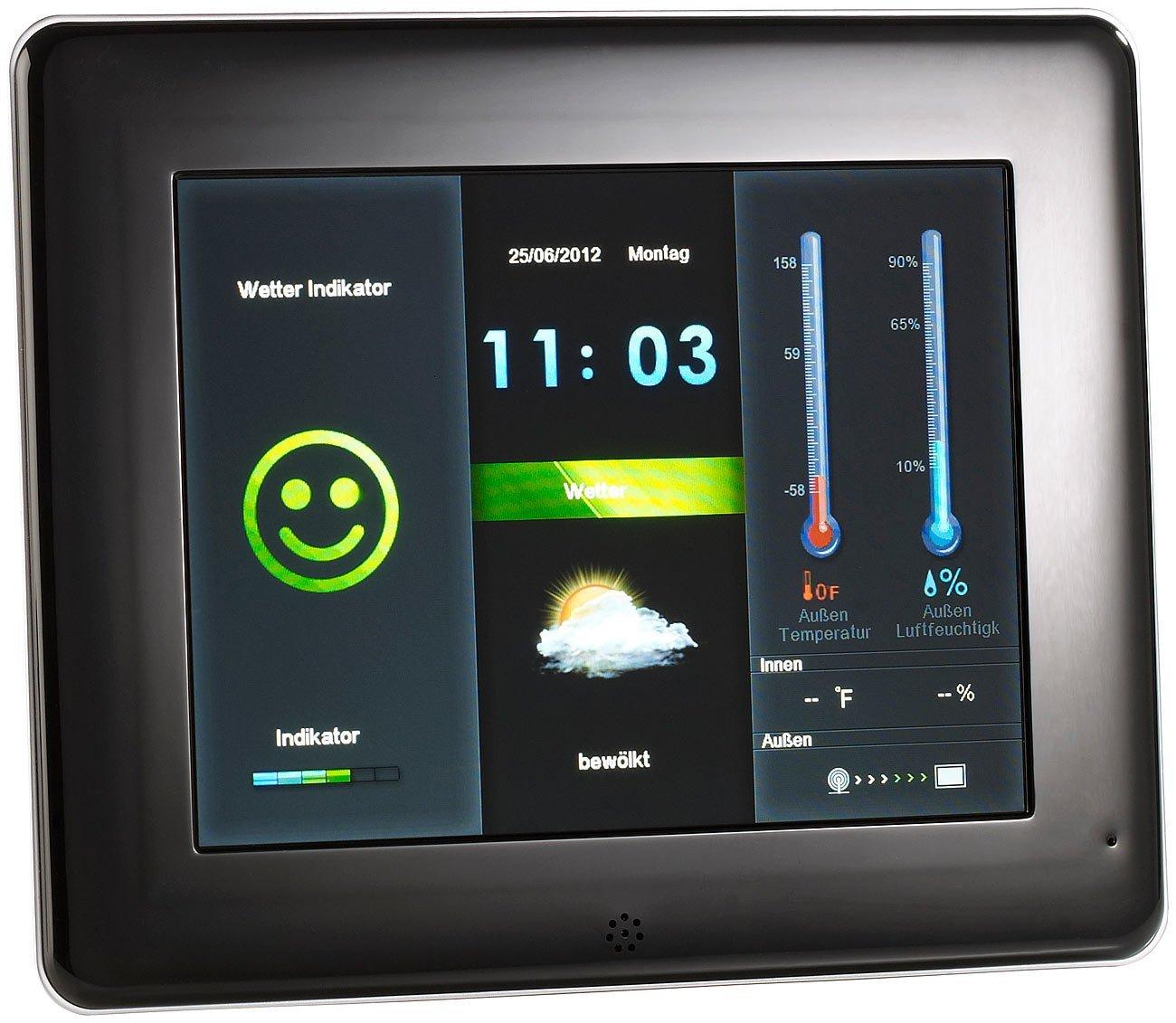 Somikon Digitaler 3in1-Bilderrahmen mit Wetterstation